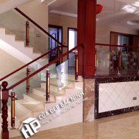 Cầu thang nhôm kính HP002