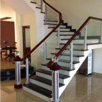 Cầu thang nhôm kính HP001