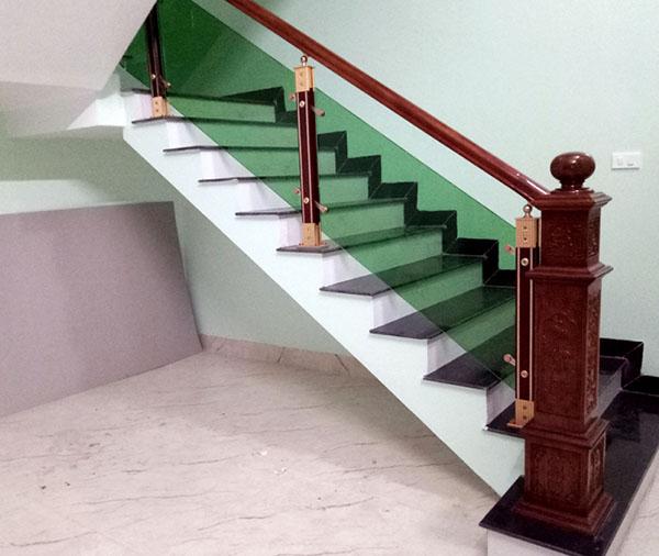 Cầu thang nhôm kính Xanh CD2002